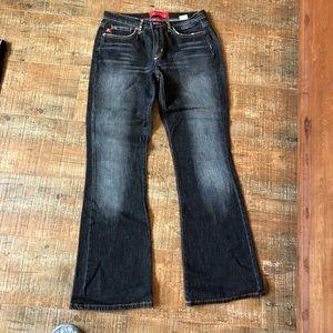 A Line Charcoal bootcut jeans sz 6